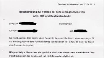 20150424_bescheinigung_ermaessigung_rundfunkbeitragjpg - Widerspruch Gdb Begrundung Muster
